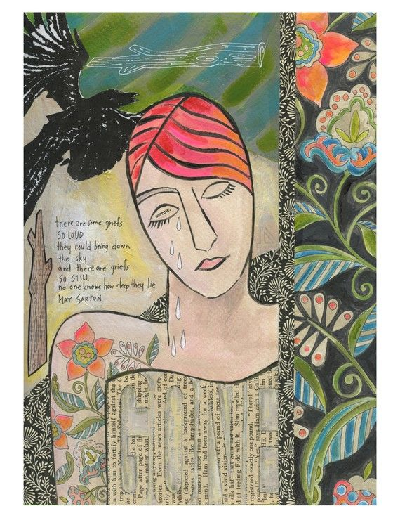 Gone 8x10 Giclee Print Grief Sorrow May Sarton Susan Black