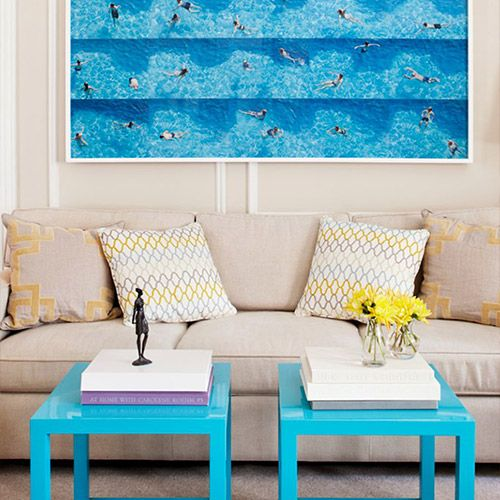 Anyon Interior Design shocks with unexpected turquoise.