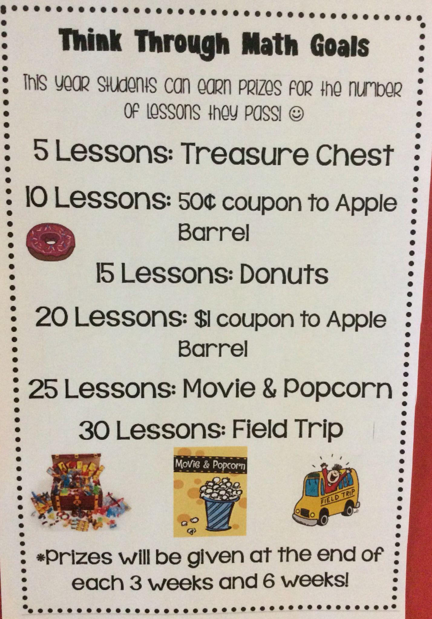 Highland elementary think through math goals think