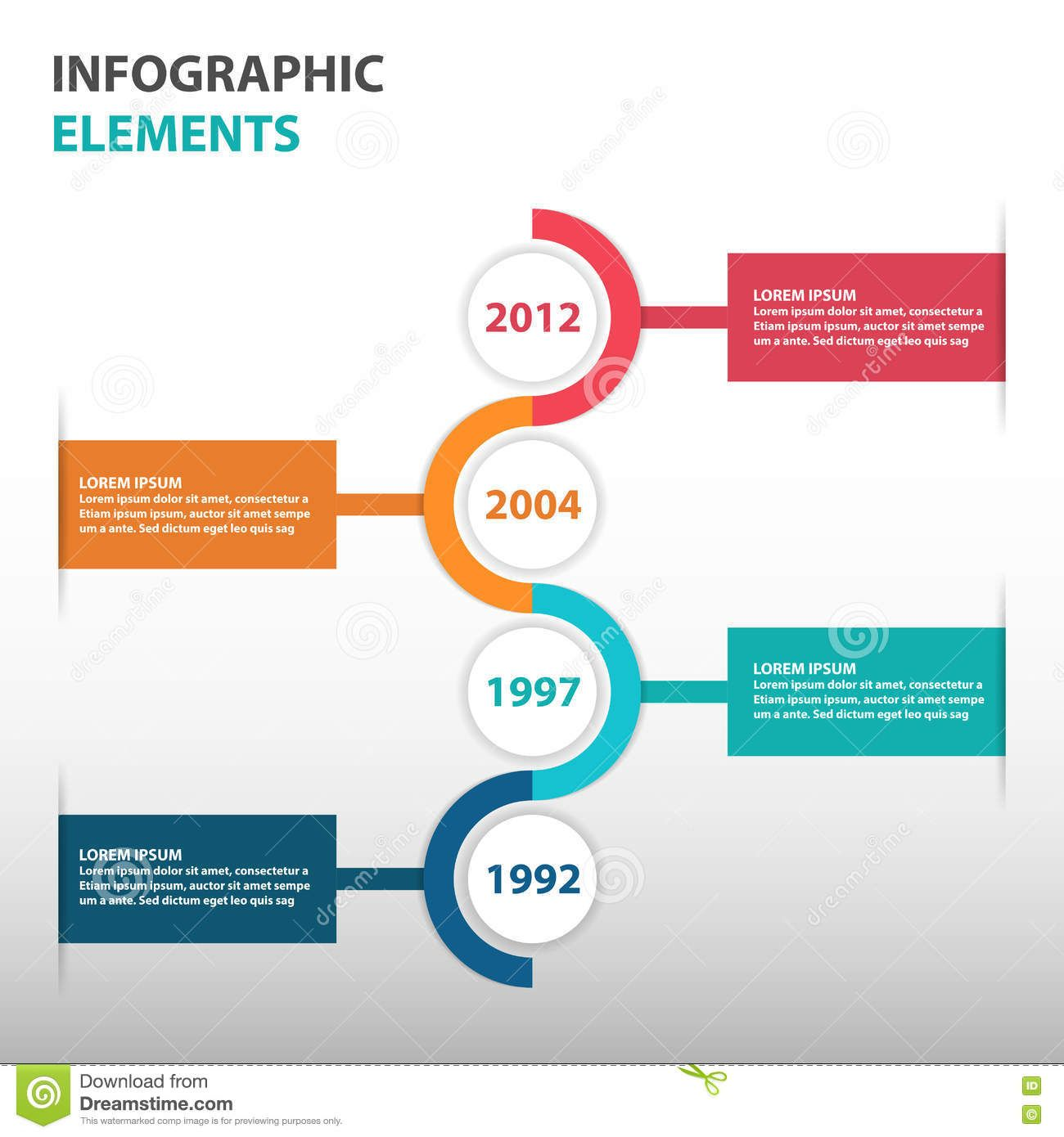 Abstract Circle Business Timeline Roadmap  Infographics Elements Presentation
