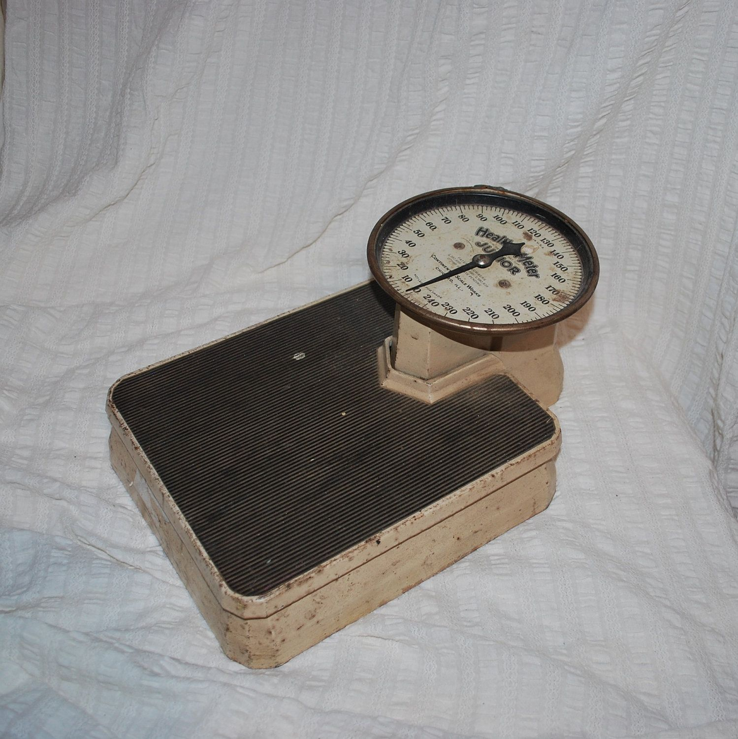 Antique Or Vintage Scale Medical Personal Bathroom Very Old