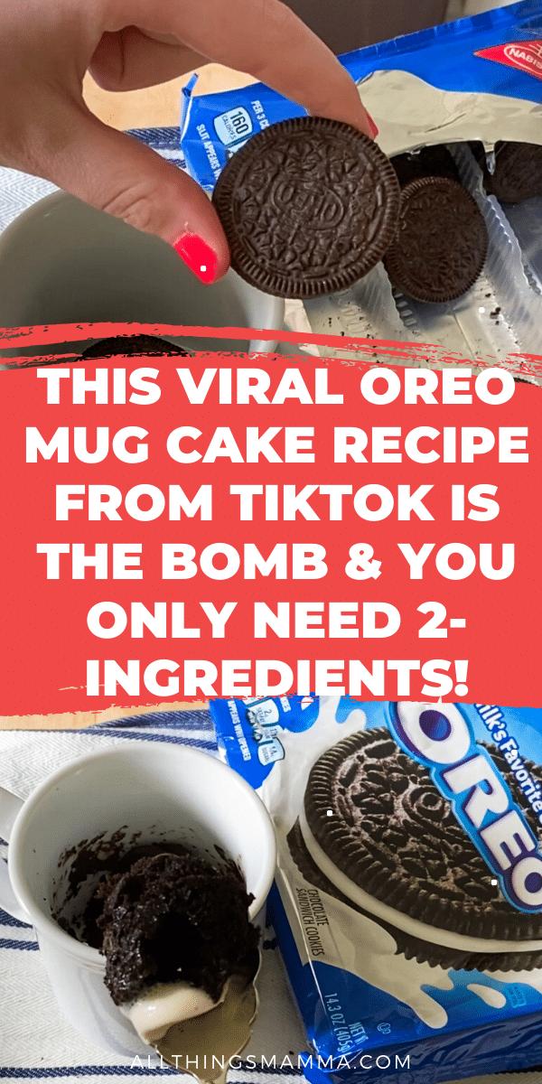 This Popular Oreo Mug Cake That Went Viral On Tiktok Proves That Anyone Can Make A Cake In Minutes This 2 Chocolate Cake Recipe Easy Mug Recipes Easy Mug Cake