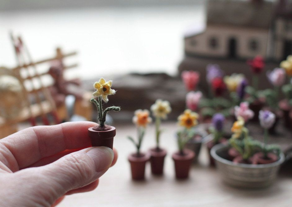 Crochet miniature plants and bookmarks by FancyKnittles on Etsy  • So Super Awesome is also on Facebook, Twitter and Pinterest