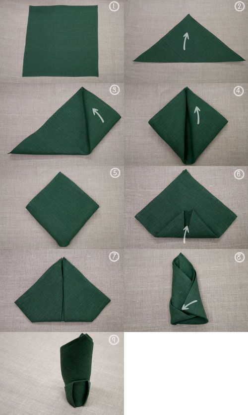 Napkin Folding Dobleces De Servilletas Servilletas De Tela