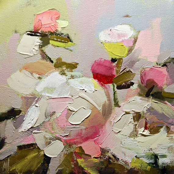Angela Moulton - Peonies no. 15 original impasto floral oil