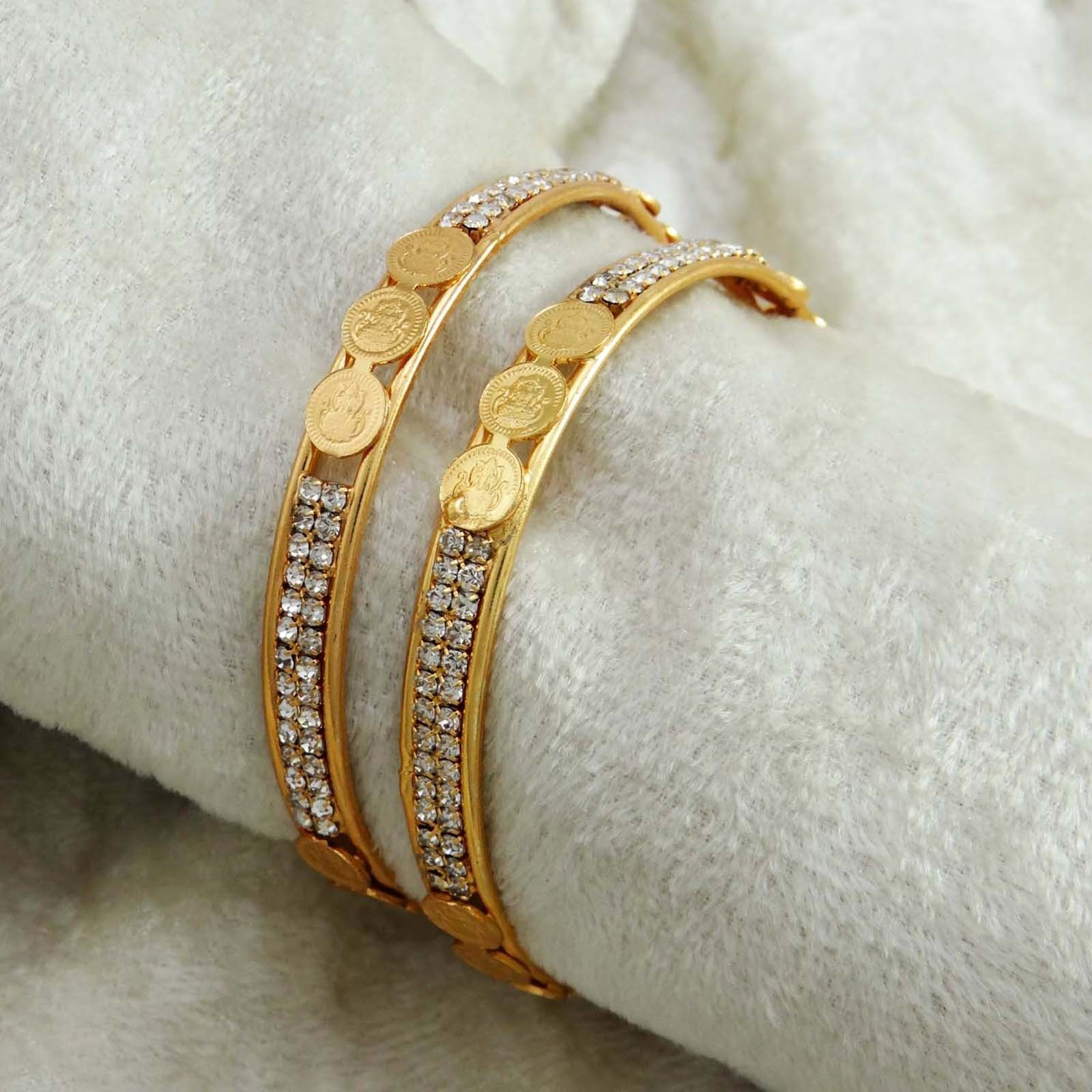 Indian traditional goldplated ginni coin bangles set bracelet women