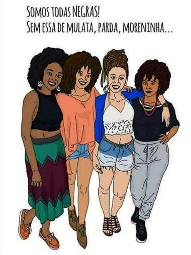 Somos todas negras! (colorism) 2   Black women art, Black ...