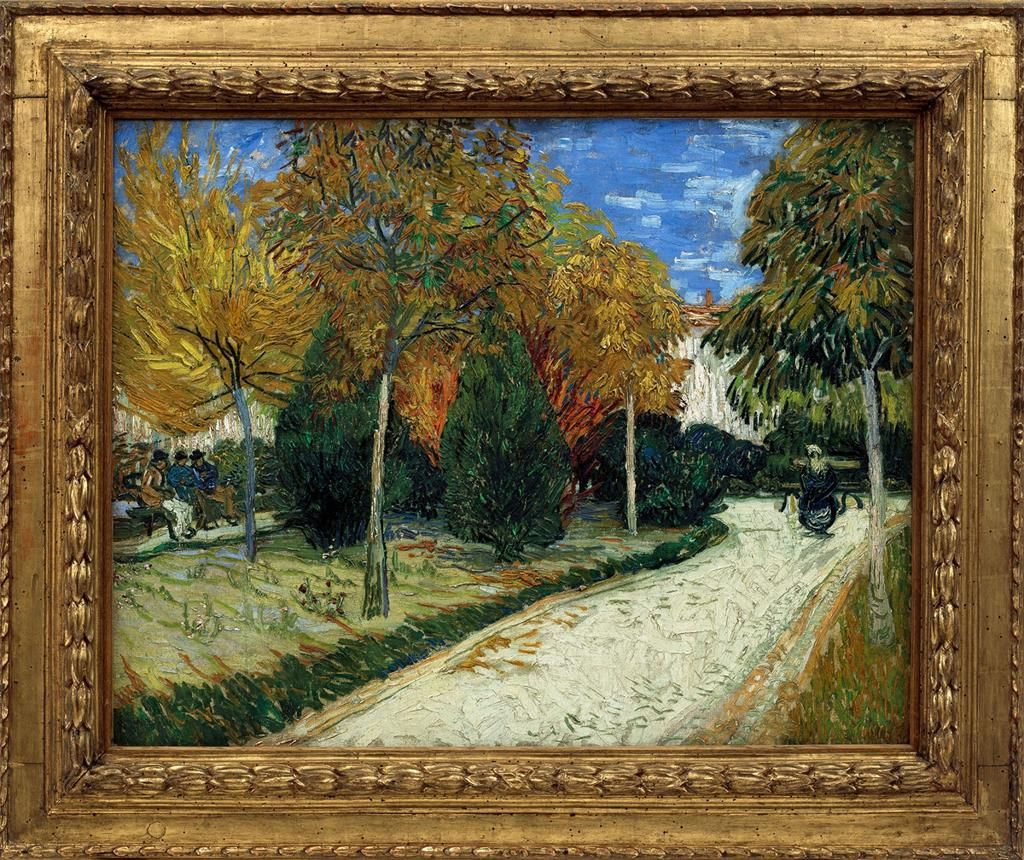 Vincent Van Gogh Autumn Garden Oil On Canvas Berlin State - Artist plants 12 acre field to create a giant artwork inspired by van gogh