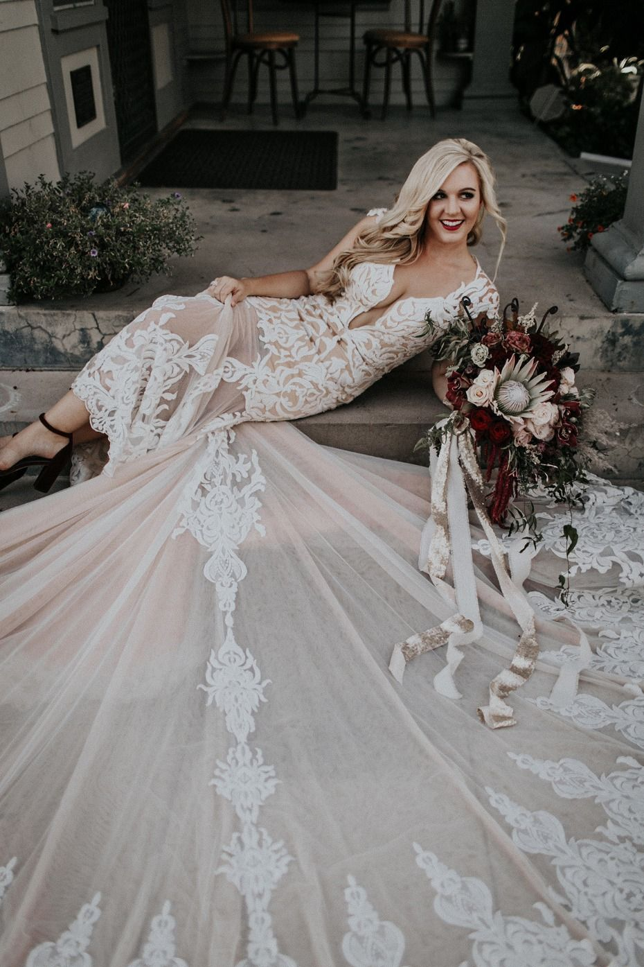 This dreamy vow renewal in california is goals wedding dress and