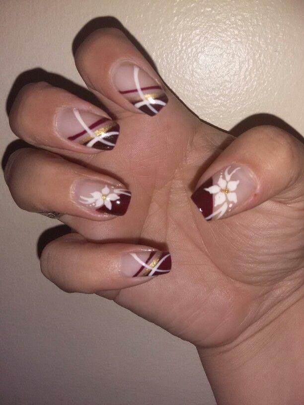 Vinotinto Unas Cortas Mis Unas Nails Nail Designs Y Nail Art