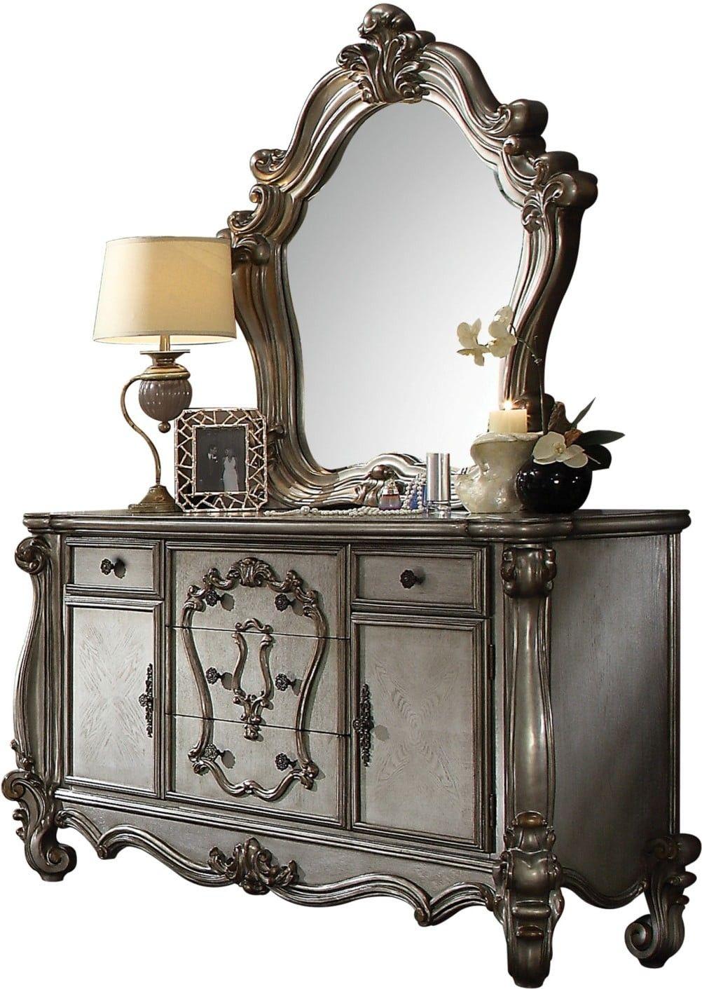 Versailles Antique Platinum Panel Bedroom Set in 2020 ...