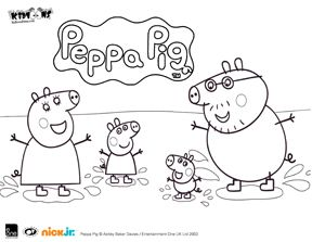 Kidtoons Peppa Pig Family Coloring Sheet Peppa Pig Coloring Pages Mickey Coloring Pages Peppa Pig Colouring