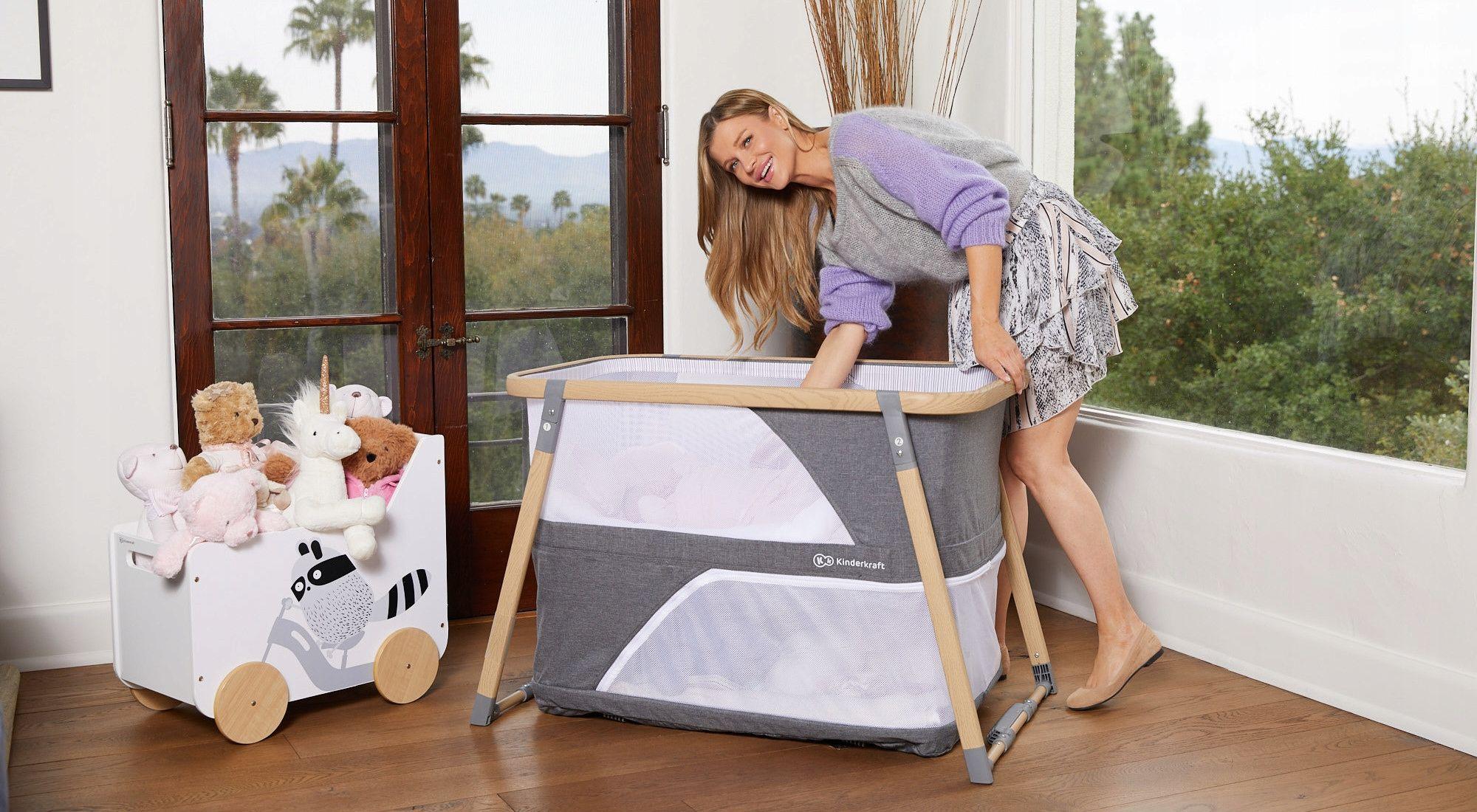 Lozeczko Turystyczne Kojec 4w1 Sofi Kinderkraft Home Decor Toddler Bed Decor