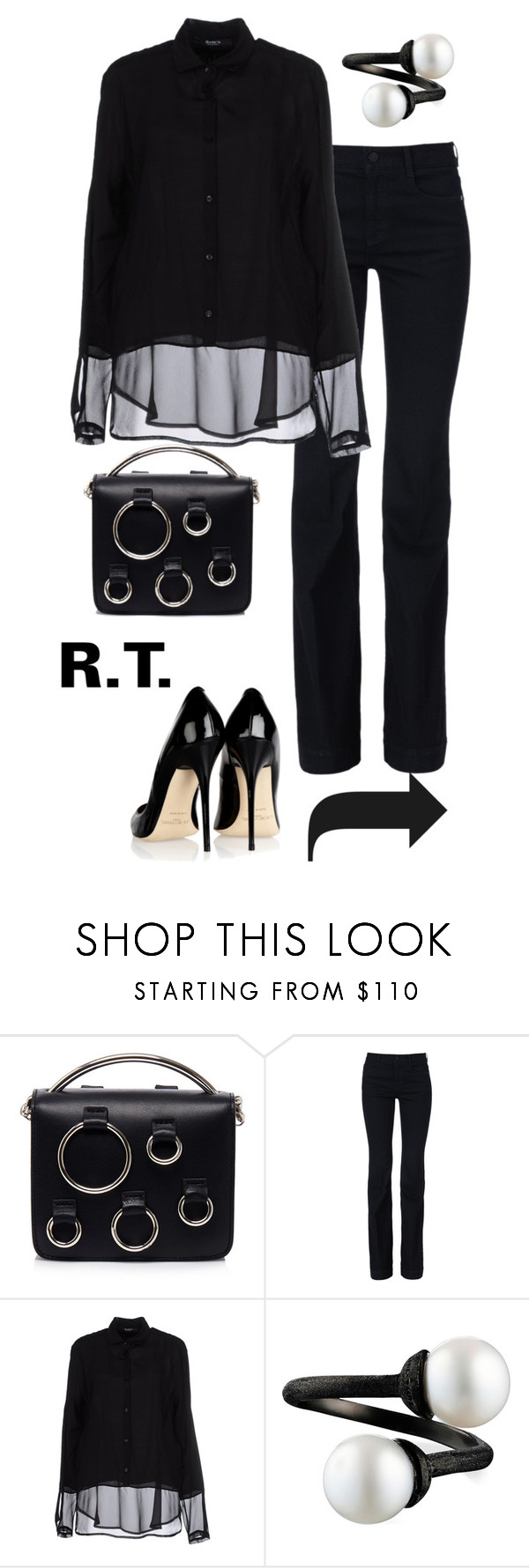"""""""R.T.-1338"""" by sopo-davituri ❤ liked on Polyvore featuring MSGM, STELLA McCARTNEY, Siste's and Jimmy Choo"""