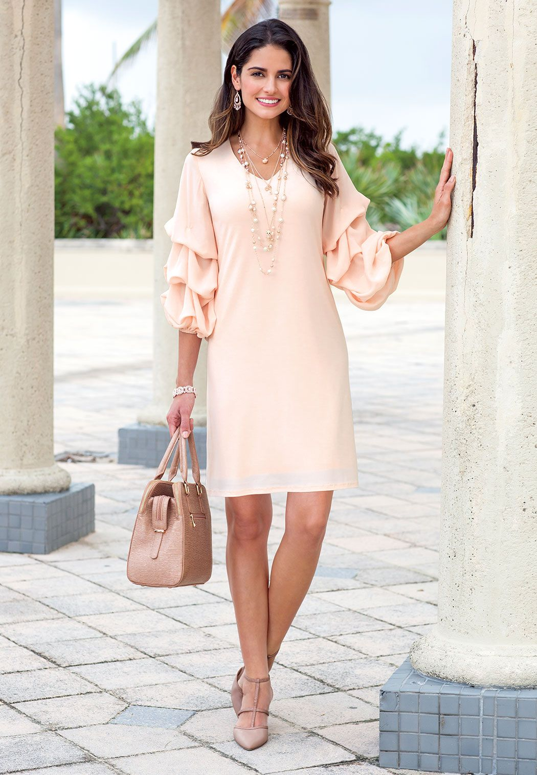 Image result for statement sleeves dress
