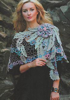 ирландия Crochet Stitch Irish Lace Irish Lace Lace Scarf и