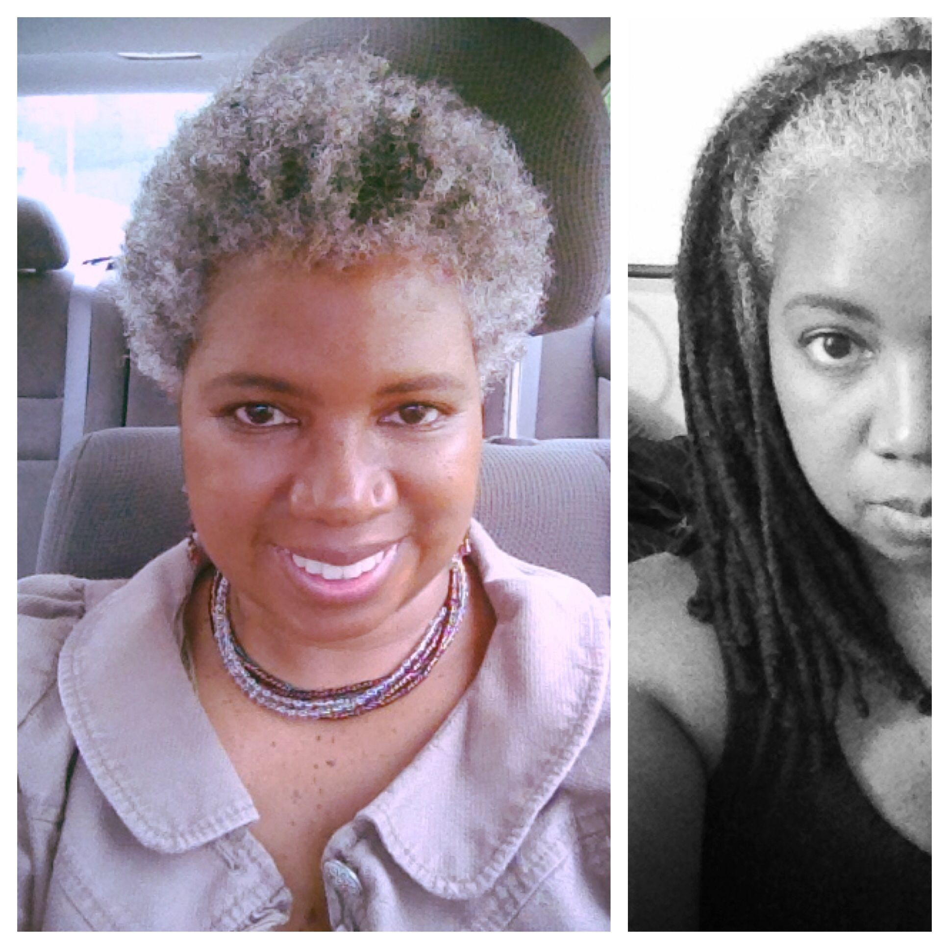 From locs to Big Chop Before and after Hello gray