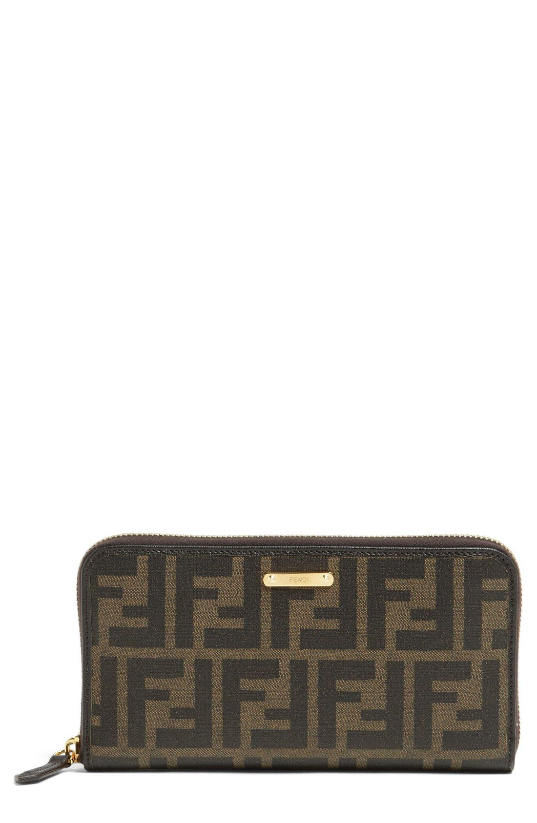 Fendi 'Zucca' Wallet Wallet, Fendi, Zip around wallet