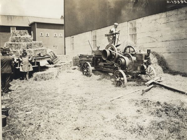 Engine Powered Hay Press   Photograph   Wisconsin Historical Society