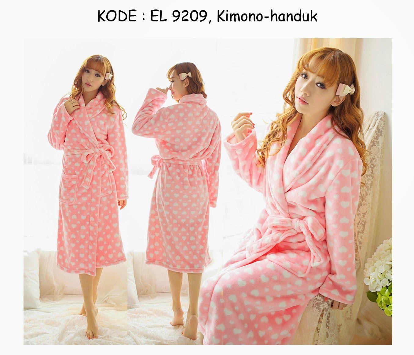 9209-170rb Jual kimono handuk mandi cute love korean hotel and resort