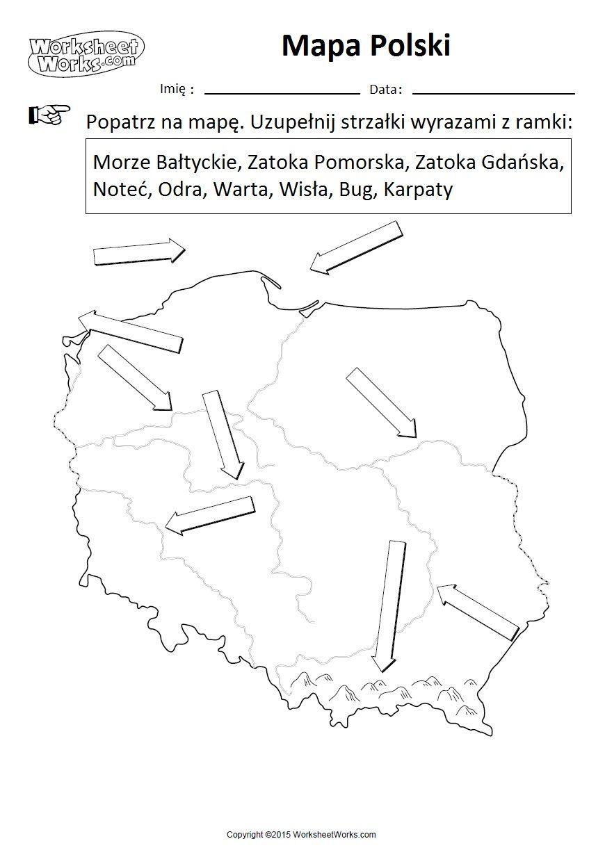 Mapa Polski Zadania Czytanie Ze Zrozumieniem Geografia Edukacja