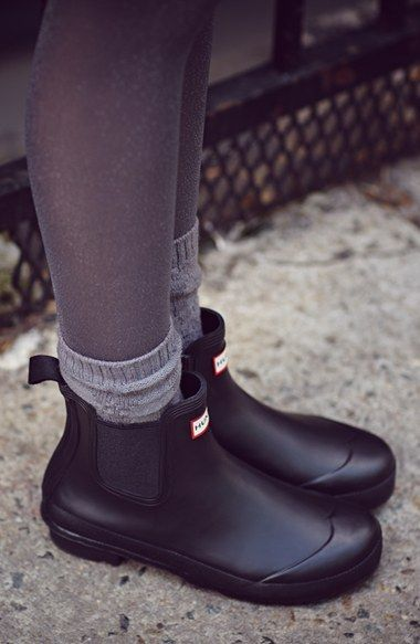 Hunter Original Chelsea Rain Boot Women Nordstrom Hunter Boots Outfit Ankle Rain Boots Boots Outfit Ankle