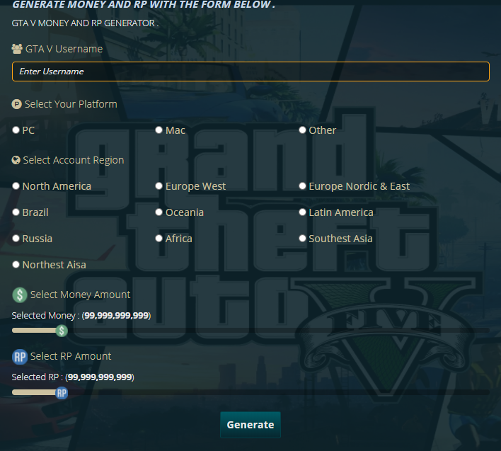 gta money and rp generator no survey