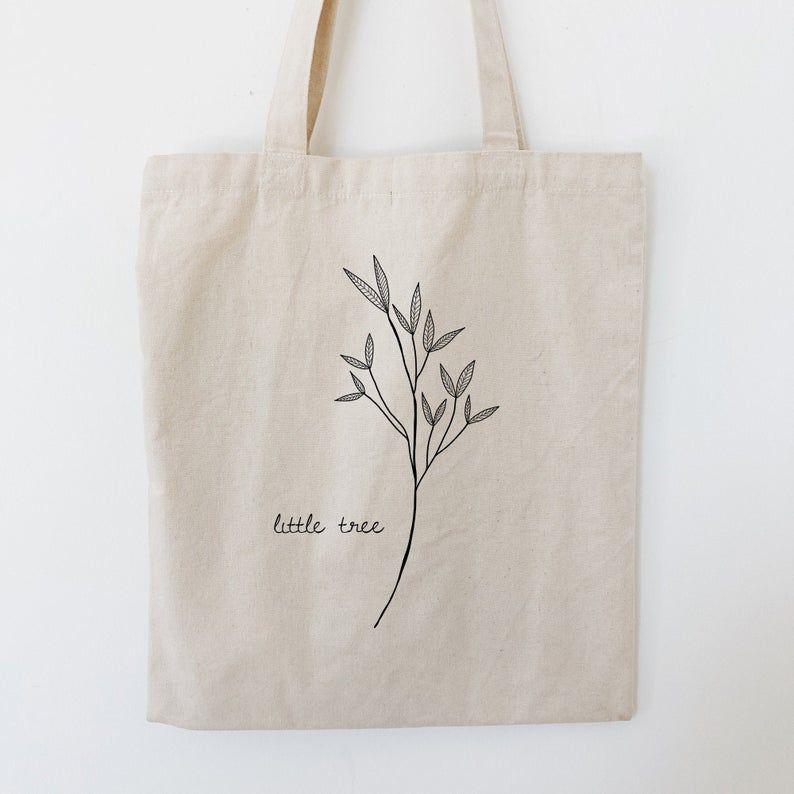 Leaves Tote Bag Png Digital Print File Minimal Floral Leaf Etsy Personalized Tote Bags Embroidered Tote Bag Embroidered Tote