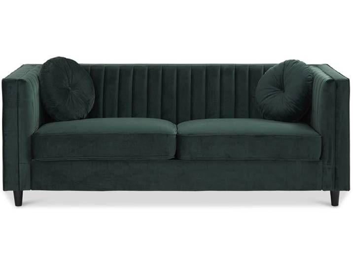 Biligno Sofa 3 Sitzer Dunkelgrun Samtbezug Sofa Furniture Decor