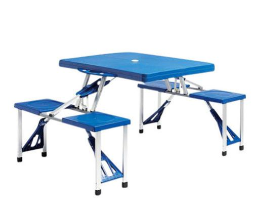 746c75807b1 Portable-Folding-Plastic-Picnic-Table-Indoor-Outdoor-Kids-Camping-Table -4-Seats