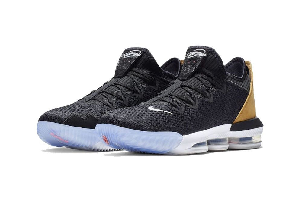 8ab7bbb505a nike leborn 16 low 2019 footwear nike basketball lebron james black gold  white