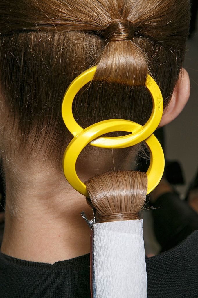 This ponytail at Dior Haute Couture Spring 2015 is positively mesmerizing!
