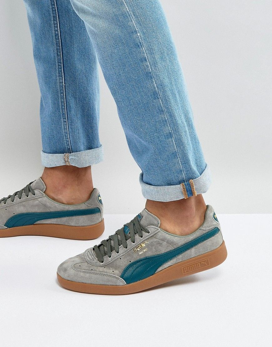 PUMA MADRID SNEAKERS GREEN. #puma #shoes #   Denim
