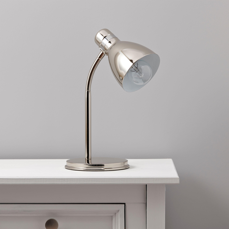 Lights By Bq Shelley Acrylic Metal In Line Switch Desk Lamp