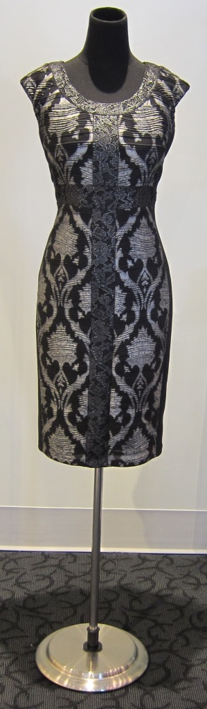 #Frank #Lyman Black Black and Silver Knit Cocktail Dress at Le Dress Boutique for $135, from $279 retail