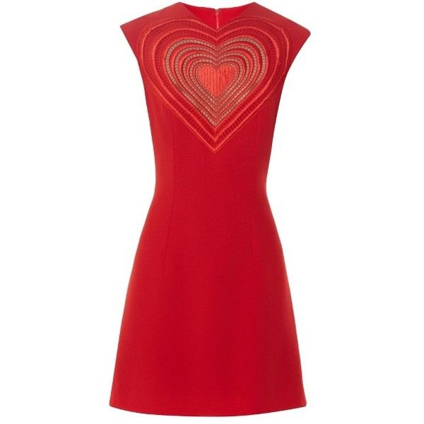 Christopher Kane Love Heart crepe mini dress (22 859b95cb4