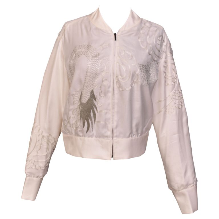 S/S 2003 Tom Ford for Gucci Kimono inspired embroidered silk jacket