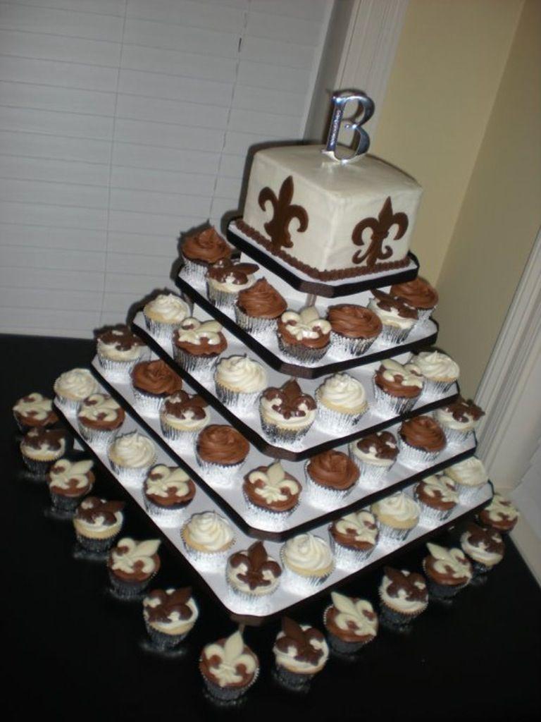 Fleur De Lis Wedding Cake Cupcake Tower Cake Love In
