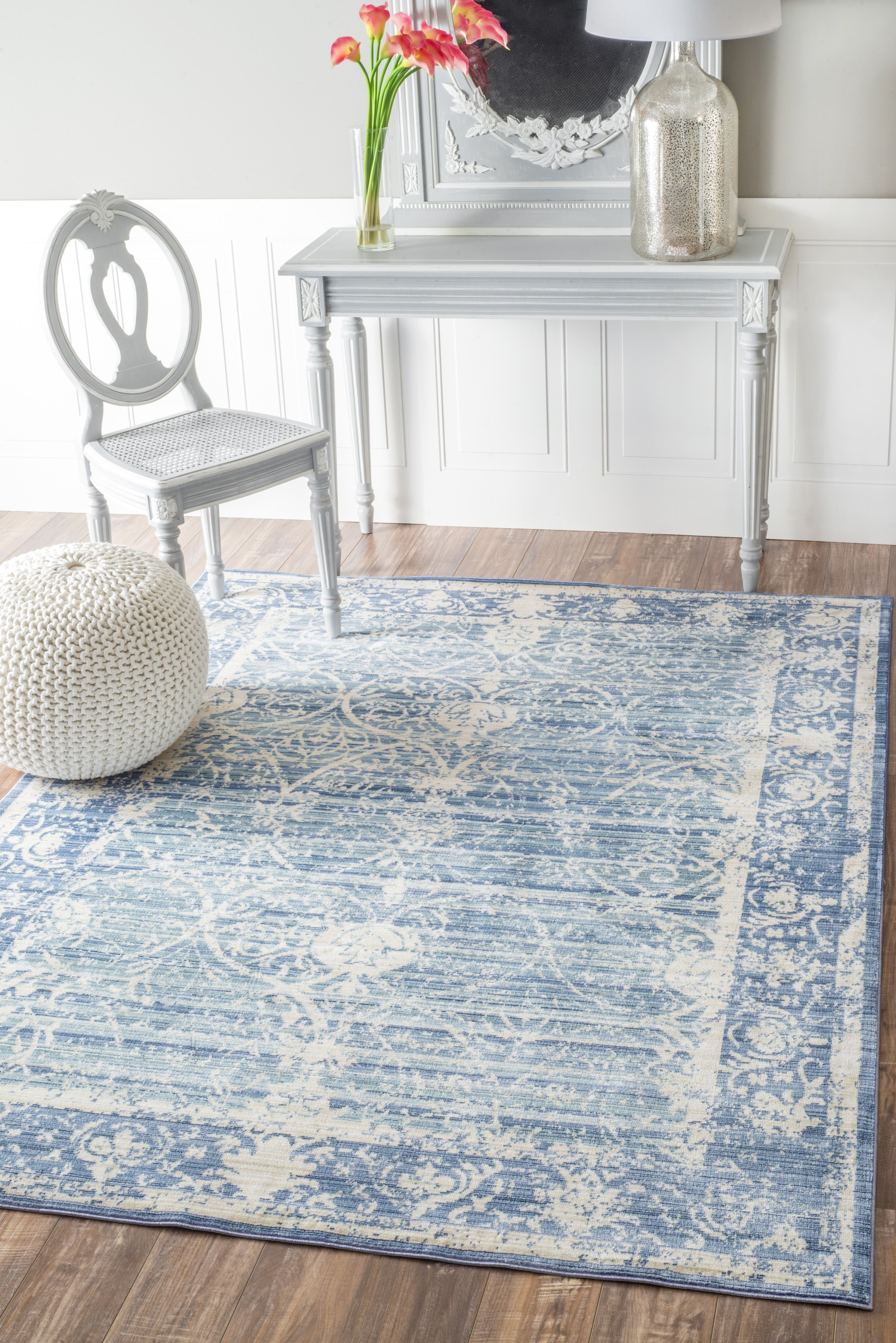 A Fabulous Blue And White Rug From One Of Rugs Usas New Collections