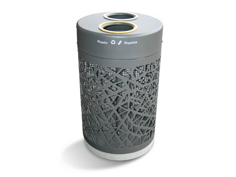 steel waste bin with lid for waste sorting ecofreccia by. Black Bedroom Furniture Sets. Home Design Ideas