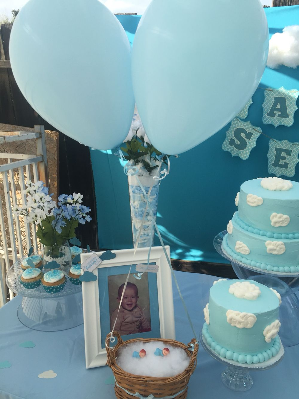 Heaven Sent Baby Shower Theme For Twin Diy Centerpiece Heaven Sent