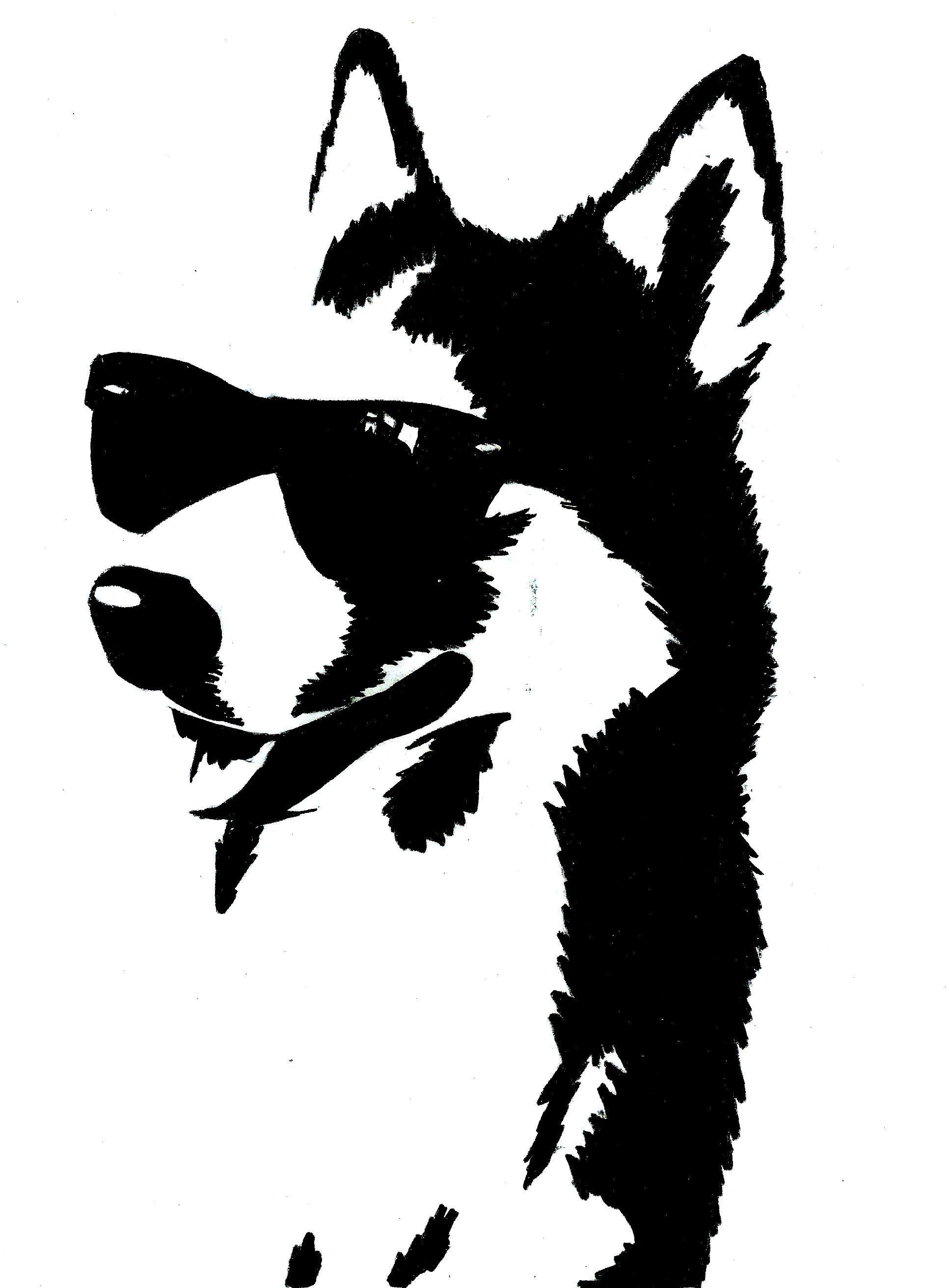 0934cdb82 cachorro de óculos desenhado a mão e vetorizado (exercício de contraste)