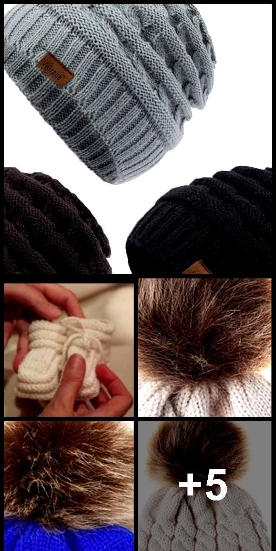 ViGrace Kids Winter Warm Fleece Lined Hats Infant Toddler Children B   ViGrace Kids Winter Warm Fleece Lined Hats Infant Toddler Children B