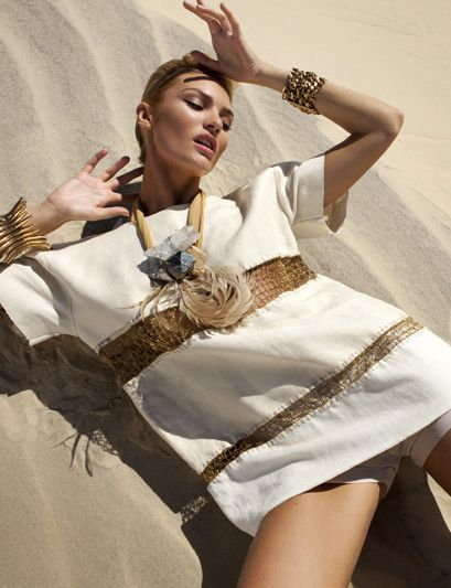 """Candice Swanepoel in """"Queen Of The Desert"""" Photographed By J.R. Duran &Styled By Daniel Ueda For Vogue Brazil, October 2011"""
