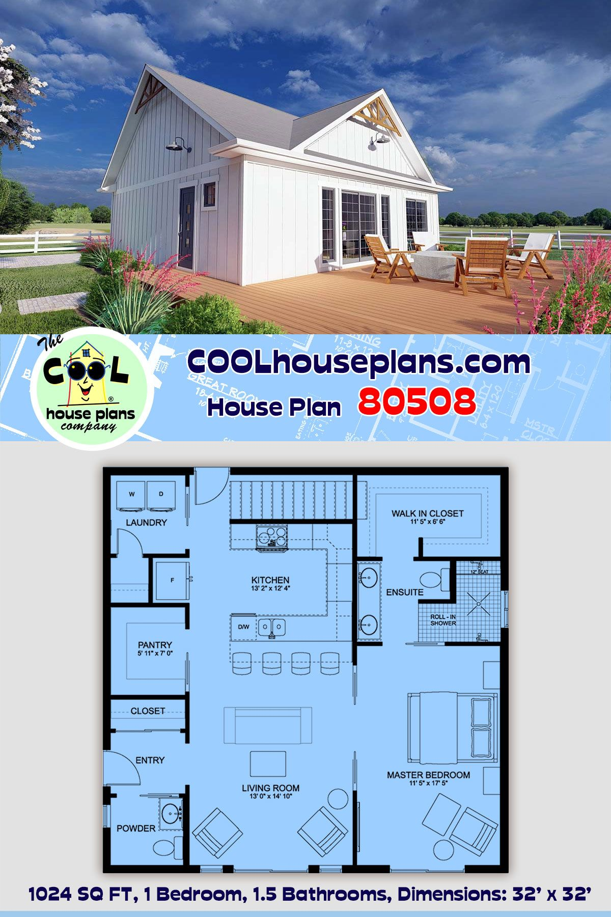 Ranch Style House Plan 80508 With 1 Bed 2 Bath Ranch Style House Plans Ranch Style Homes House Plans