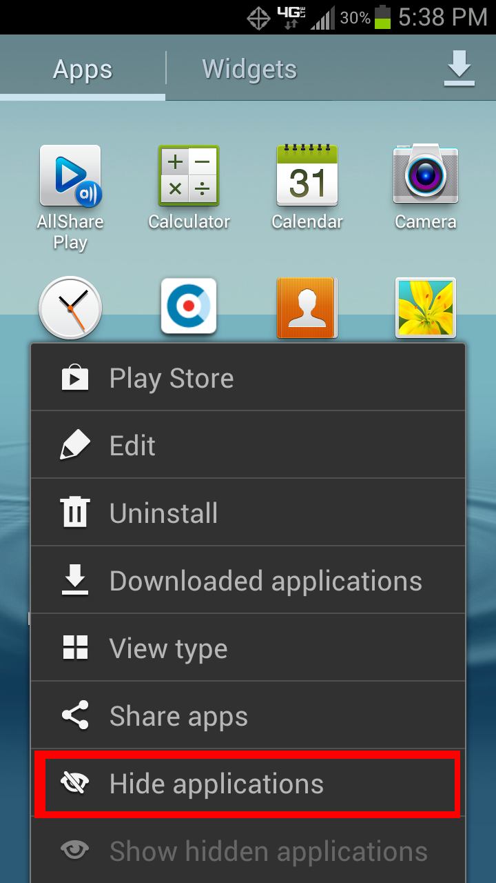 Want to Hide Applications on your Samsung Galaxy S III