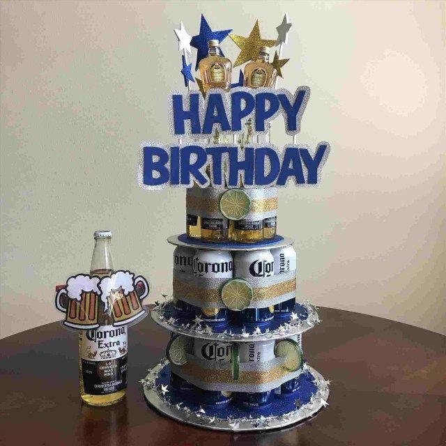 Amazing 30 Great Photo Of Corona Birthday Cake Beer Birthday Birthday Personalised Birthday Cards Sponlily Jamesorg