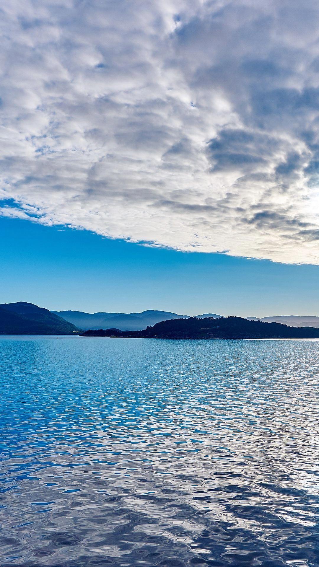 Lake Mountain Summer Nature Blue Healing Cloud Iphone 6