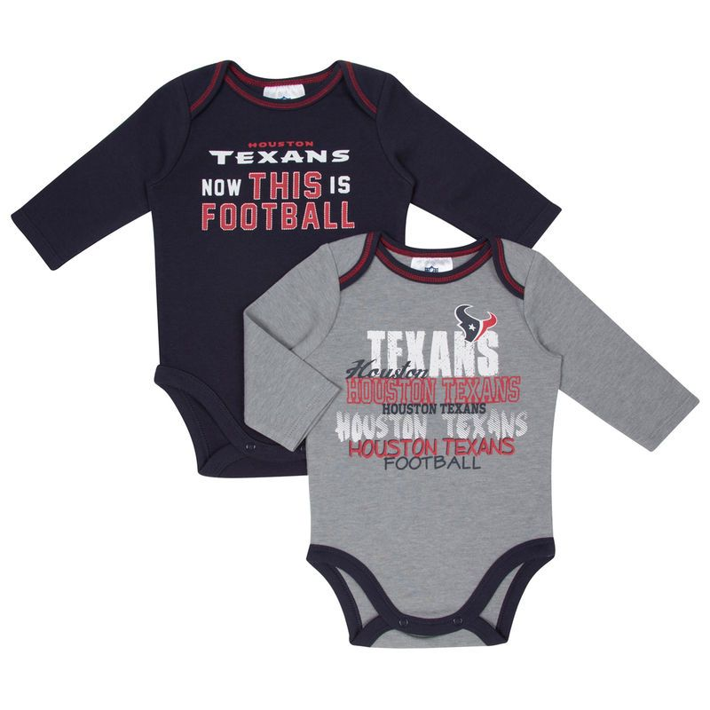 f3764046 Houston Texans Infant 2-Pack This is Football Long Sleeve Bodysuit ...