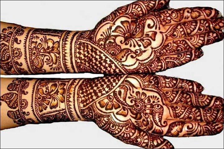 Rajasthani Bridal Mehndi Designs : Rajasthani bridal mehndi designs for full hands mix of patterns